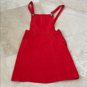 Red jean dress
